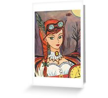 Steampunk Faerie Watercolour Pastel Greeting Card