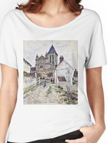 Claude Monet - The Church At Vetheuil 1878  Women's Relaxed Fit T-Shirt