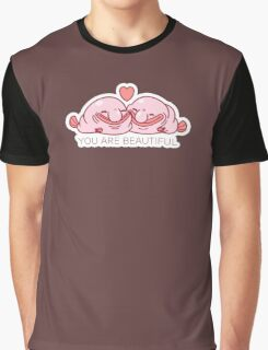 Blobfish You Are Beautiful Sticker Graphic T-Shirt