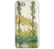 Claude Monet - The Three Trees, Autumn  iPhone Case/Skin