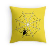 Spider and web II Throw Pillow