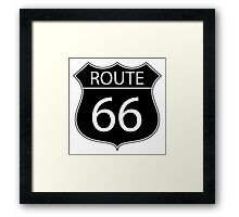 Route 66 Road Sign Framed Print