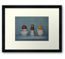 Still life with tea and fruit  Framed Print