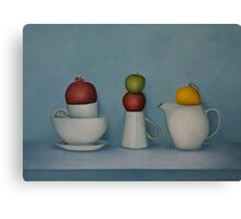 Still life with tea and fruit  Canvas Print