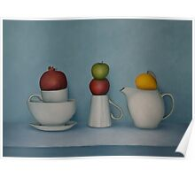 Still life with tea and fruit  Poster