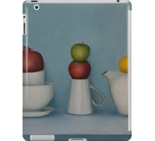 Still life with tea and fruit  iPad Case/Skin