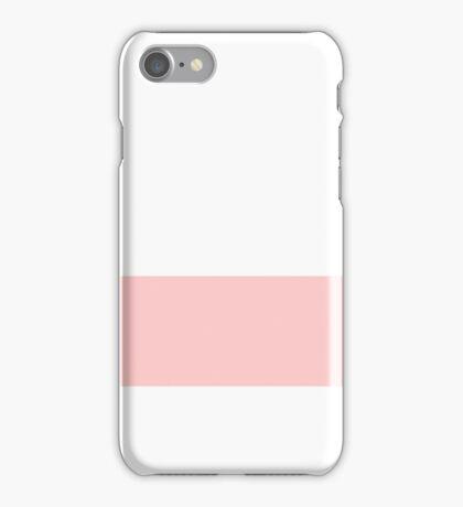 Salmon Pink Stripe iPhone Case/Skin
