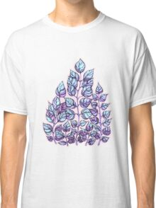 Rose Quartz and Serenity hand drawn and watercolor leaves  Classic T-Shirt