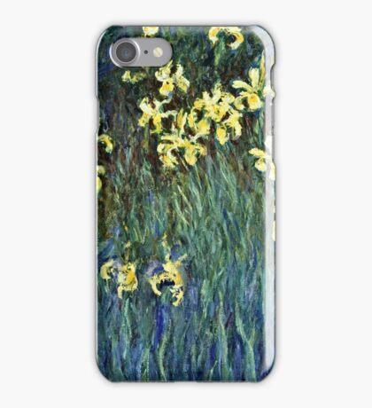 Claude Monet - Yellow Irises ( 1914 -  1917)  iPhone Case/Skin