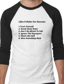 Life's 6 rules Men's Baseball ¾ T-Shirt