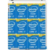 Ebola inside case badge cutout iPad Case/Skin