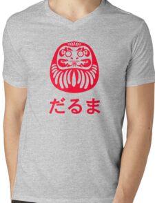 Daruma / だるま / 達磨 Mens V-Neck T-Shirt