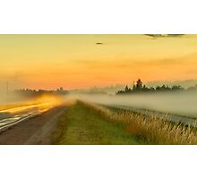 The road in the fog Photographic Print