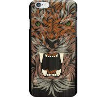 tiger lilly line colour iPhone Case/Skin