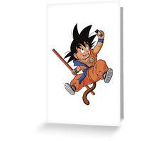 GOKU TAKES A SELFIE Greeting Card