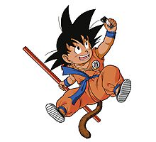 GOKU TAKES A SELFIE Photographic Print
