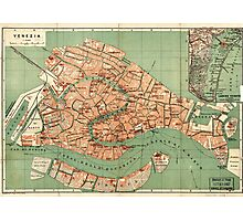 Map of Venice - 1886 Photographic Print