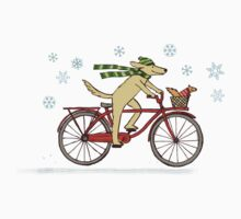 Cycling Dog and Squirrel Holiday Kids Clothes