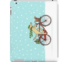 Cycling Dog and Squirrel Holiday iPad Case/Skin