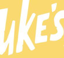 Luke's Diner - White Sticker