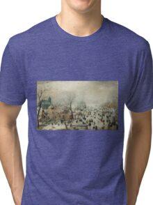 Hendrick Avercamp - Winter landscape Tri-blend T-Shirt