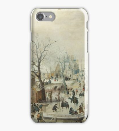 Hendrick Avercamp - Winter landscape iPhone Case/Skin