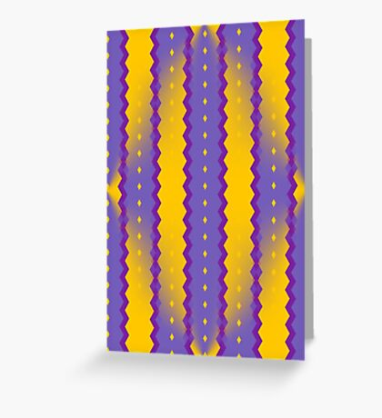 A Purple And Yellow Romance Greeting Card
