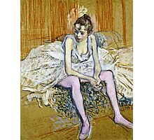 Henri De Toulouse Lautrec -  A Seated Dancer With Pink Stockings  Photographic Print