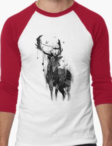 Deer On The Red Light Men's Baseball ¾ T-Shirt