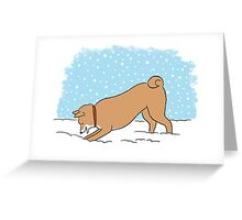 Shiba Inu Snow Holiday Greeting Card