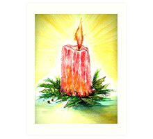 Christmas Candlelight Art Print