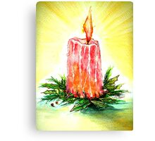 Christmas Candlelight Canvas Print