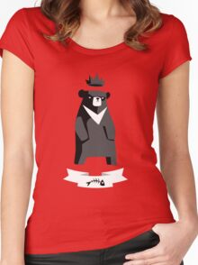 Moon Bear Shirt Women's Fitted Scoop T-Shirt