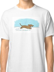 Snow Dachshund Holiday Classic T-Shirt