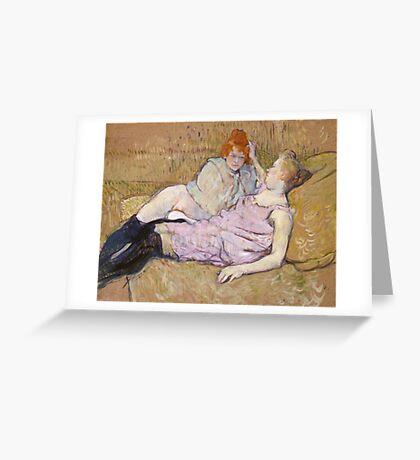 Henri De Toulouse Lautrec The Sofa 1896  Greeting Card