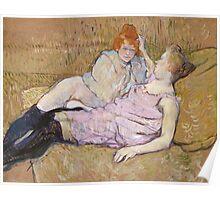 Henri De Toulouse Lautrec The Sofa 1896  Poster
