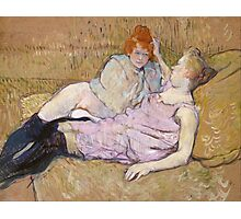 Henri De Toulouse Lautrec The Sofa 1896  Photographic Print