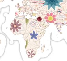 Painted world map Sticker