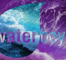 Waterboyz logo purple Sticker