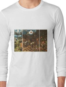 Hieronymus Bosch - The Last Judgement 1482 png Long Sleeve T-Shirt