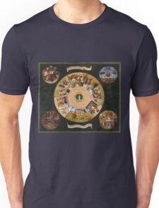 Hieronymus Bosch - The Seven Deadly Sins And The Four Last Things 1485 Unisex T-Shirt
