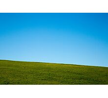 Grass and sky Photographic Print