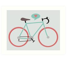 I love cycling Art Print