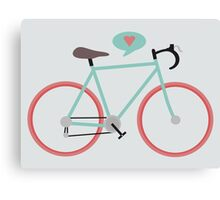 I love cycling Canvas Print