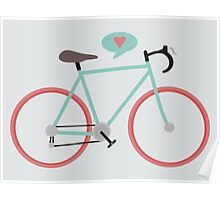 I love cycling Poster