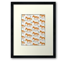 Foxy Pattern Framed Print