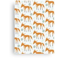 Foxy Pattern Canvas Print
