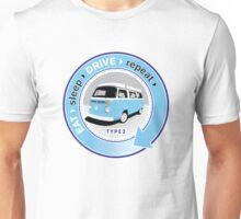 Eat Sleep Drive Repeat blue grey fan Unisex T-Shirt