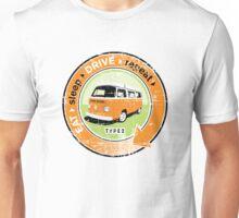 Eat Sleep Drive Repeat orange green grunge Unisex T-Shirt