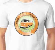 Eat Sleep Drive Repeat orange green Unisex T-Shirt